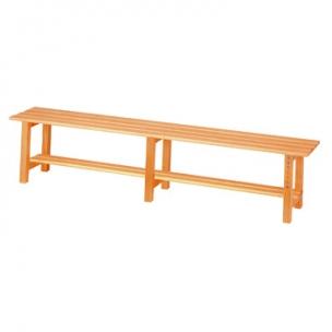 Banco vestuario en madera for Bancos merenderos de madera