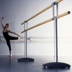 Barra de ballet doble de 3 m traslladable amb rodes. Model Maurice