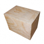 WOODEN PLYO BOX WHITE